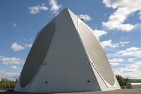 Solid-State Phased Array Radar System (SSPARS) radar in protective dome - obvious really